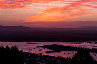 Sunset over Noosa Heads from Lagoona Lookout