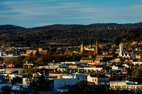 Sunset over Launceston