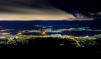 Hobart city captured from Mt Wellington
